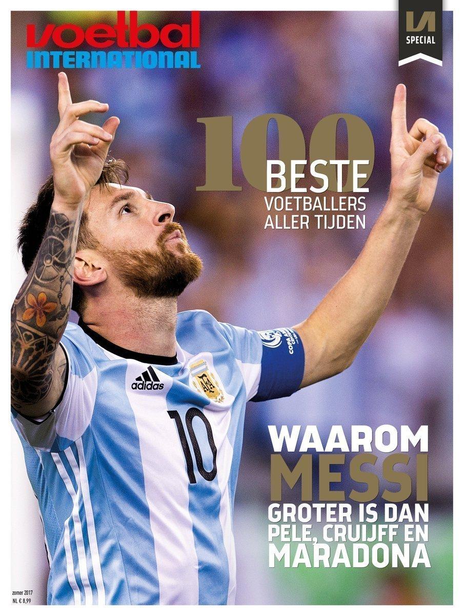 Trang bìa tạp chí vinh danh Messi
