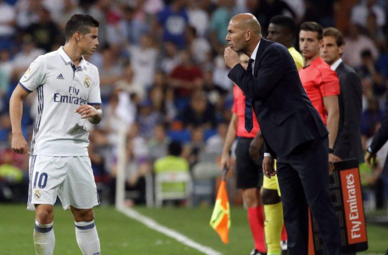 Zidane sẽ quyết định việc có giữ James ở lại hay không