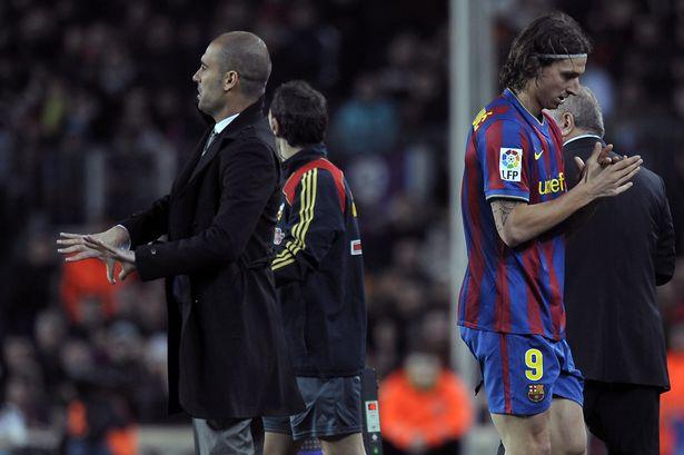 Với cá tính mạnh, Ibrahimovic mâu thuẫn với các xây dựng chiến thuật của HLV Guardiola tại Barcelona