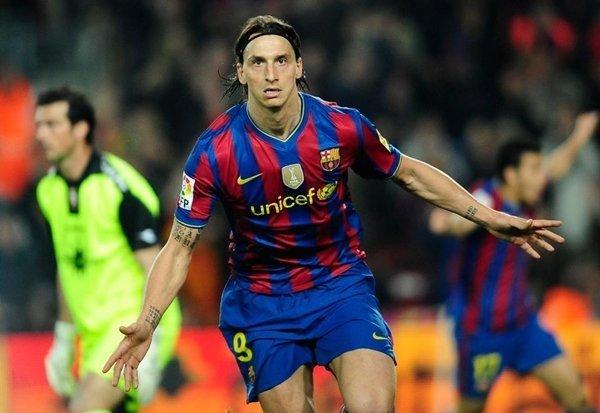 Ibrahimovic từng chơi ở Tây Ban Nha cho Barcelona
