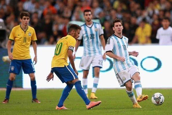 Brazil vs Argentina ngày 9/6/2017 giao hữu giải Quốc Tế.