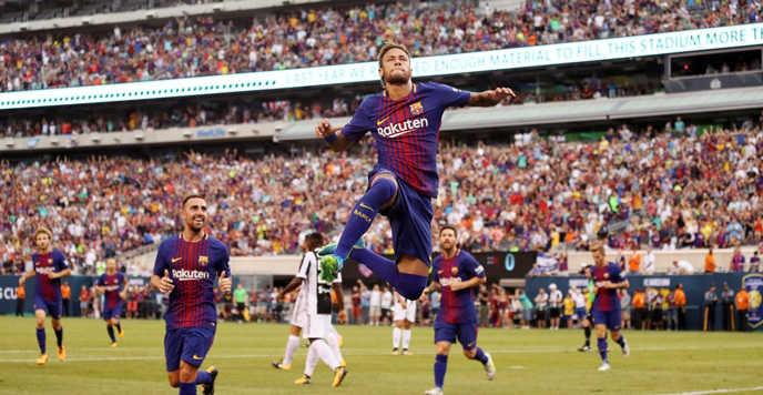 Neymar bùng nổ với một cú đúp bàn thắng, Barca hạ gục Juventus