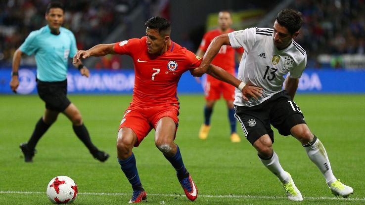 Đức gặp lại Chile sau khi hòa 1-1 ở vòng bảng