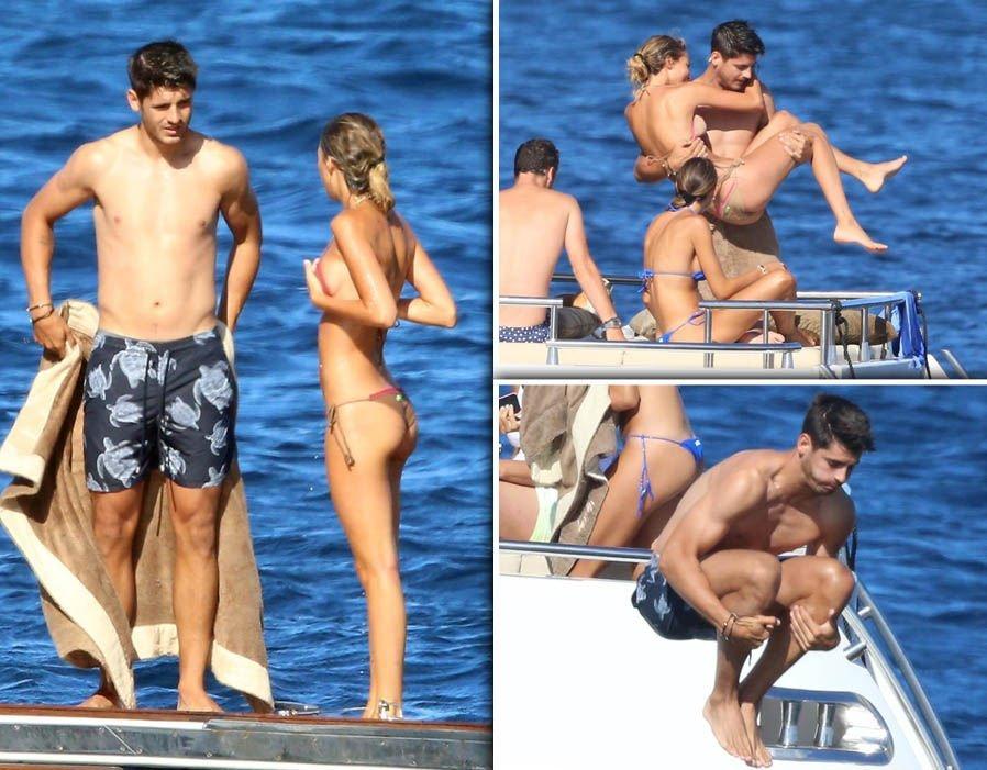Morata đang cùng vợ đi nghỉ dưỡng