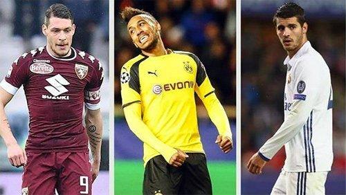 Belotti, Aubameyang và Morata là mục tiêu săn đuổi của Milan