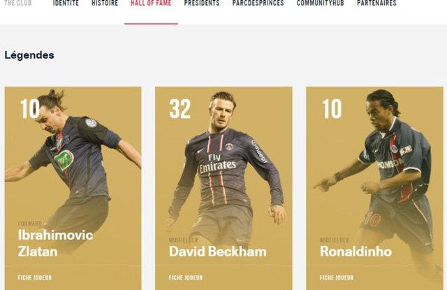 Beckham được vinh danh là huyền thoại của PSG