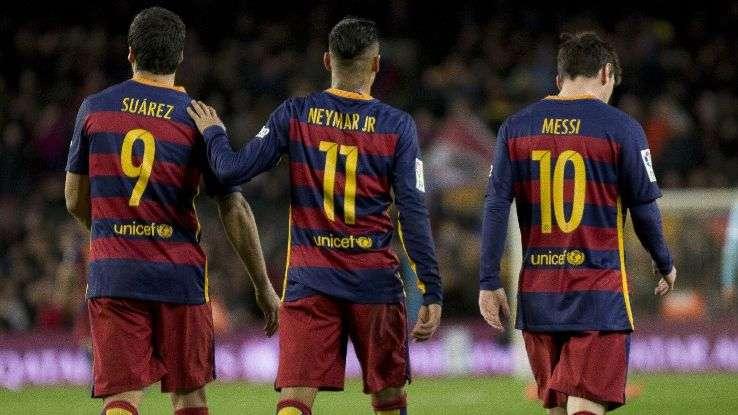 Tại Camp Nou, suất đá chính luôn thuộc về MSN