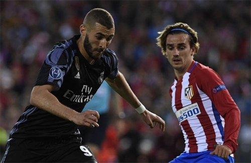 Real và Atletico là hai đội đầu bảng của UEFA
