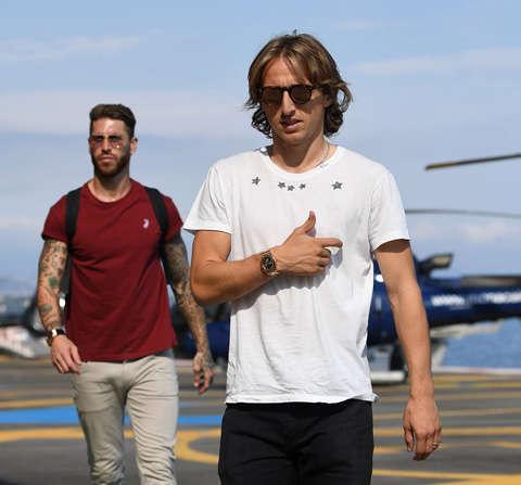Luka Modric và Sergio Ramos