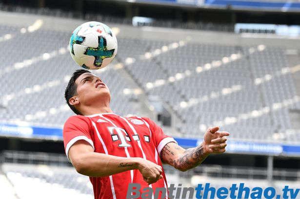 James đang thi đấu tích cực tại Bayern