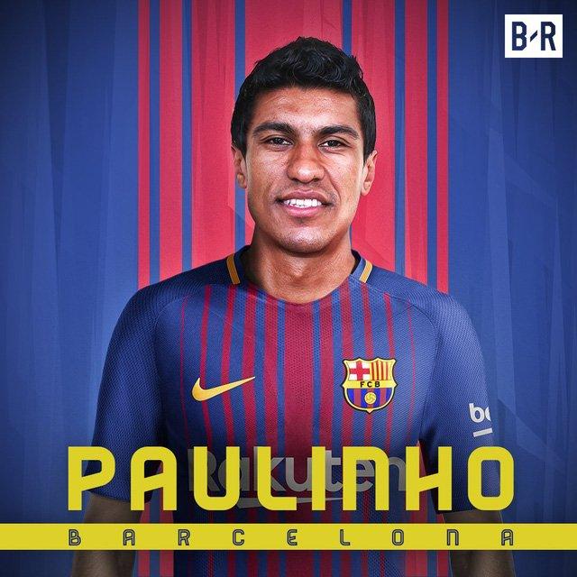 Paulinho chính thức cập bến Barcelona