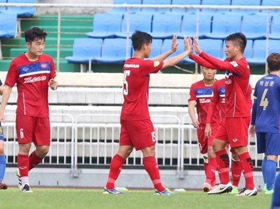 U22 Việt Nam khóa sổ chuyến tập huấn Hàn Quốc bằng chiến thắng đậm...