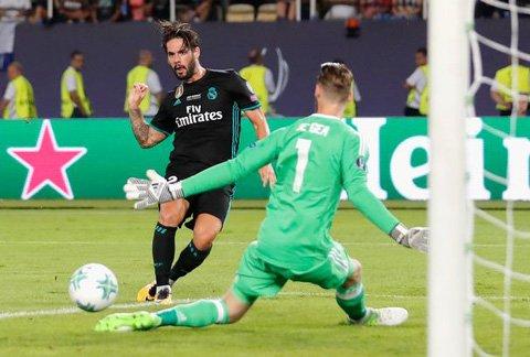 Isco xé lưới De Gea trong trận tranh Siêu Cúp châu Âu 2017