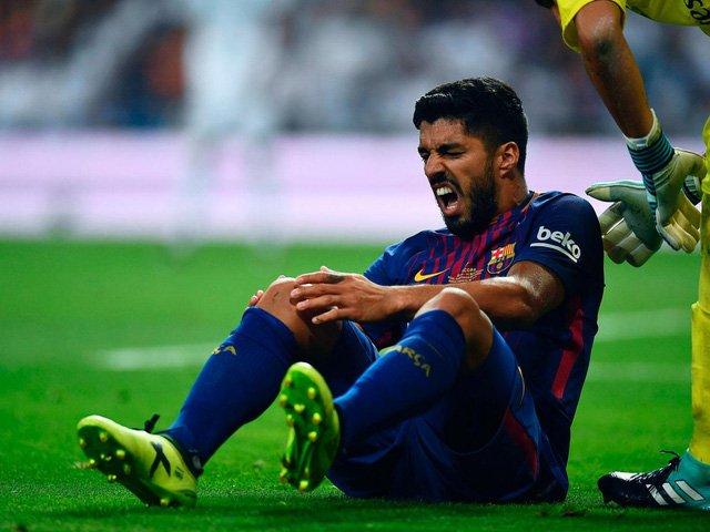 Luis Suarez dính chấn thương nặng ở trận gặp Real Madrid