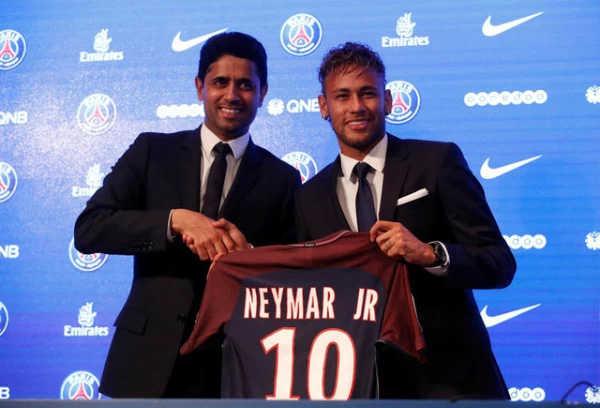 Neymar sẽ nhận mức lương 26 triệu bảng/năm nhưng chỉ xếp thứ 2 thế giới