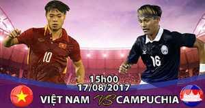 Link sopcast U22 Việt Nam vs U22 Campuchia ngày 17/8/2017 khuôn khổ bảng B SEA Games 29
