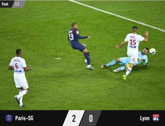 Cầu thủ nhà không ghi bàn, PSG vẫn giành 3 điểm trước Lyon