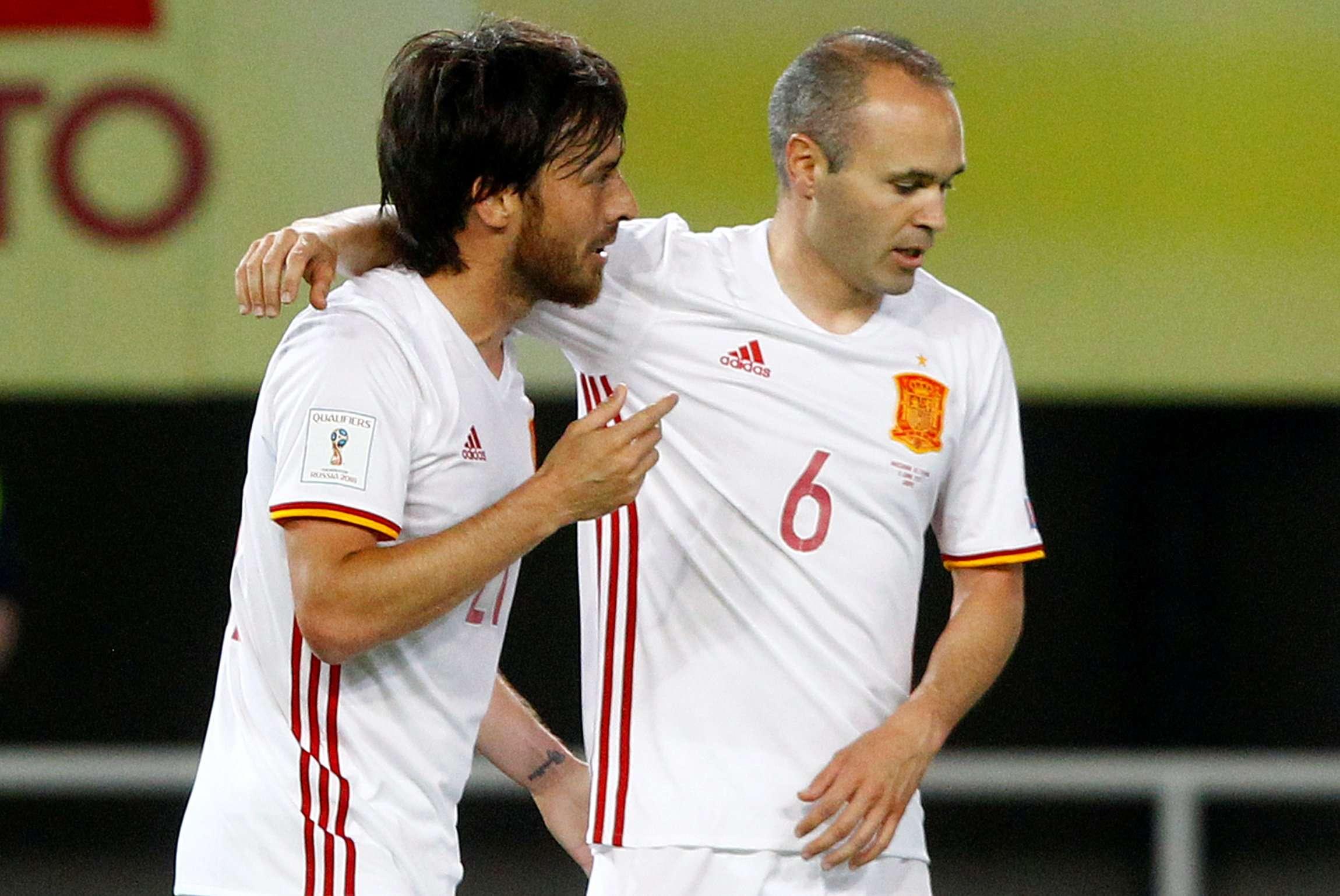 Villa và Iniesta đều đã lớn tuổi