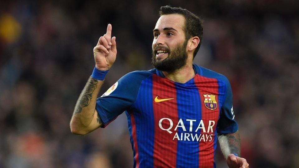 Aleix Vidal trong màu áo Barca