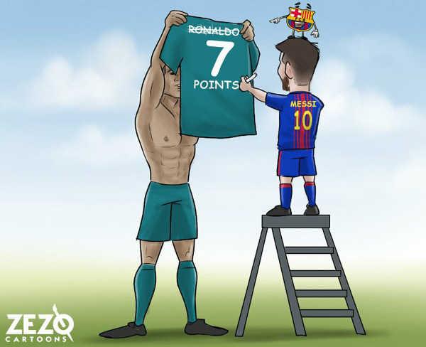 Góc biếm họa: Messi chế nhạo C.Ronaldo, Neymar hờn dỗi Cavani
