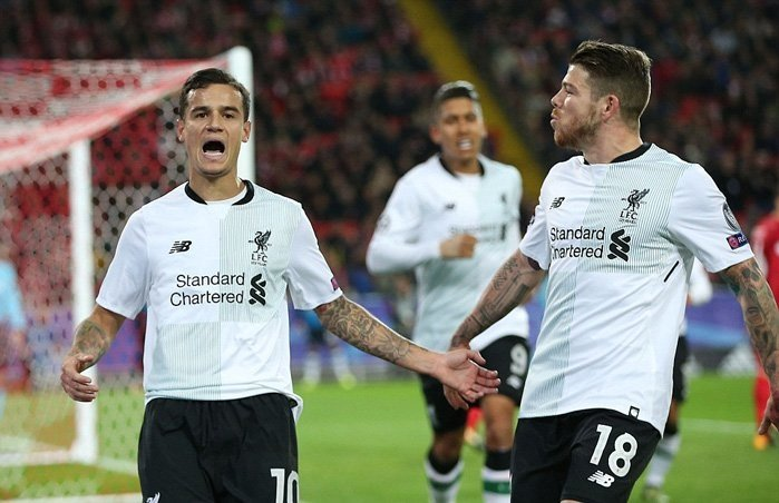 Coutinho gỡ hòa 1-1 cho Liverpool