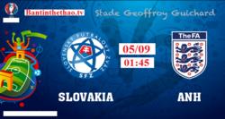 Link Sopcast, link xem trực tiếp Anh vs Slovakia vòng loại World Cup 5/9/2017