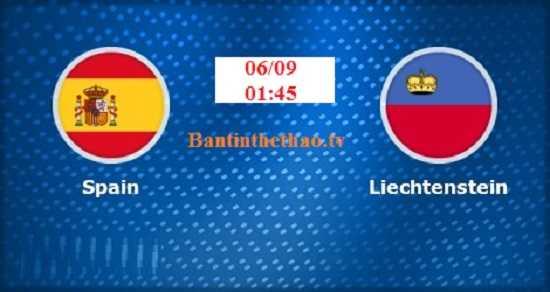 Link Sopcast, link xem trực tiếp Tây Ban Nha vs Liechtenstein vòng loại World Cup 6/9/2017