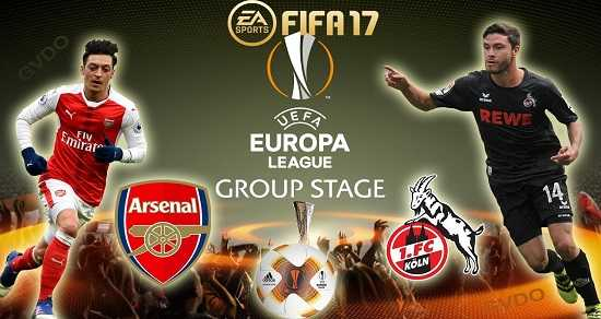 Link xem trực tiếp, link sopcast Arsenal vs Cologne ngày 15/9/2017 giải Cup Europa League