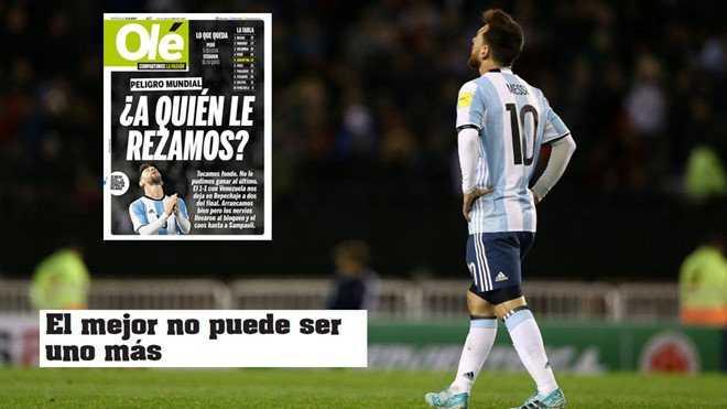 """Messi bị báo giới Argentina """"bới móc"""""""