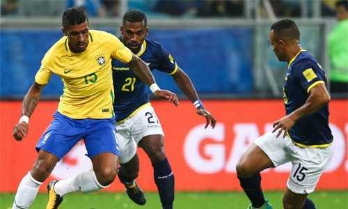 Paulinho và Coutinho nổ súng, Brazil hạ gục Ecuador