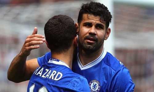 Eden Hazard ủng hộ Diego Costa trở lại thi đấu cho Chelsea