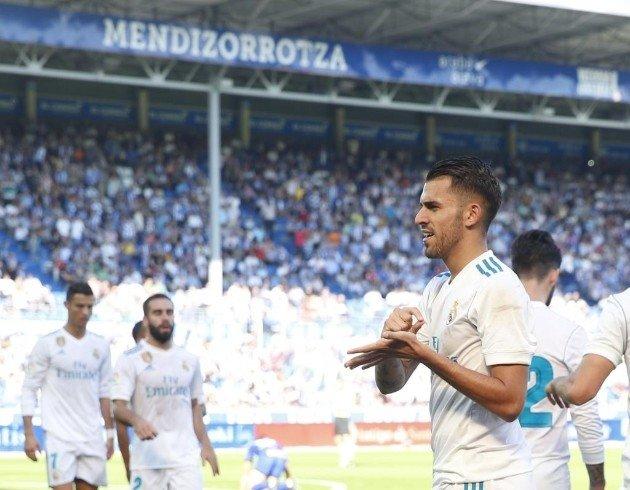 Ceballos mở tỷ số 1-0 cho Real Madrid