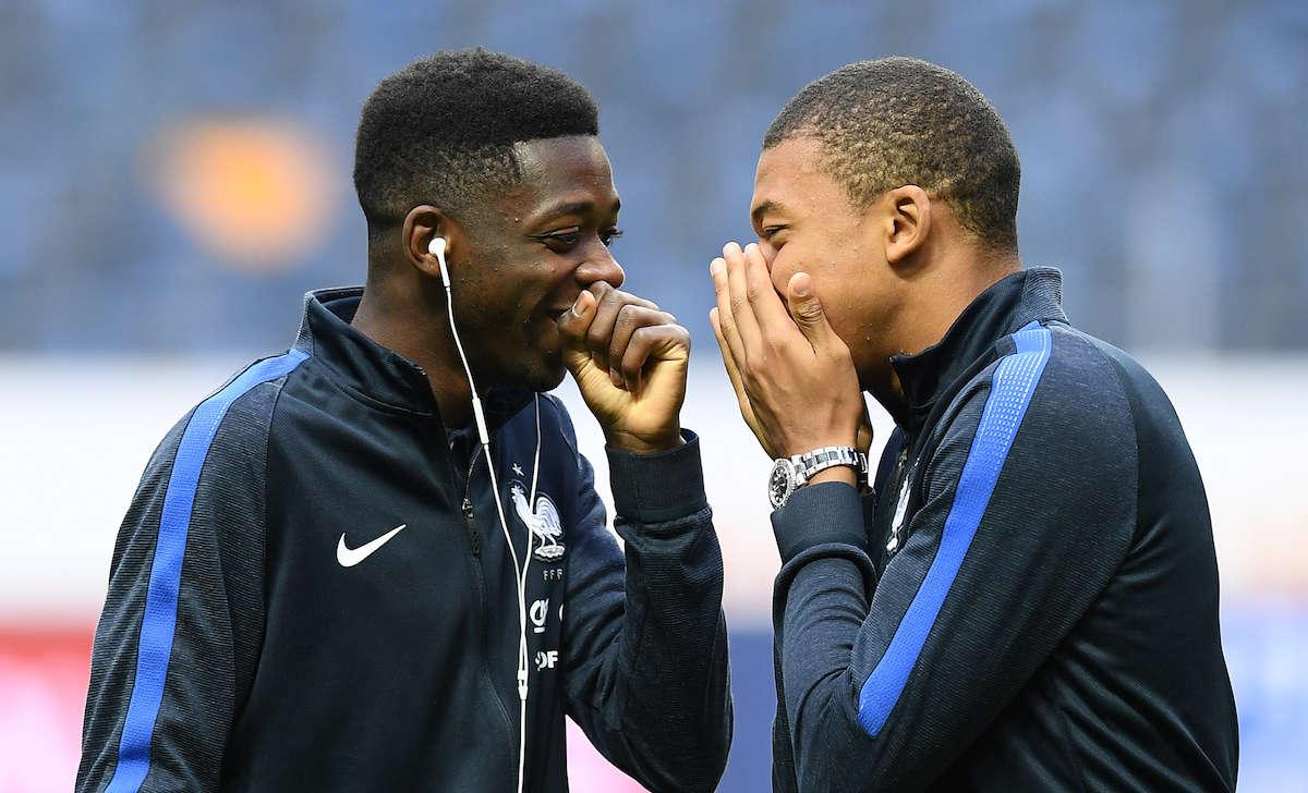 Mbappe đã khuyên Dembele gia nhập Barca