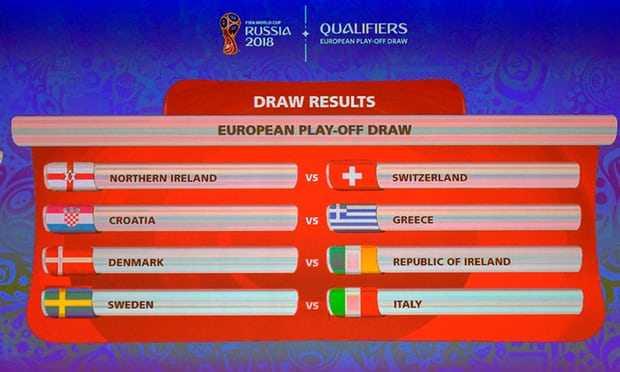 Bốc thăm play-off World Cup: Italia gặp khó