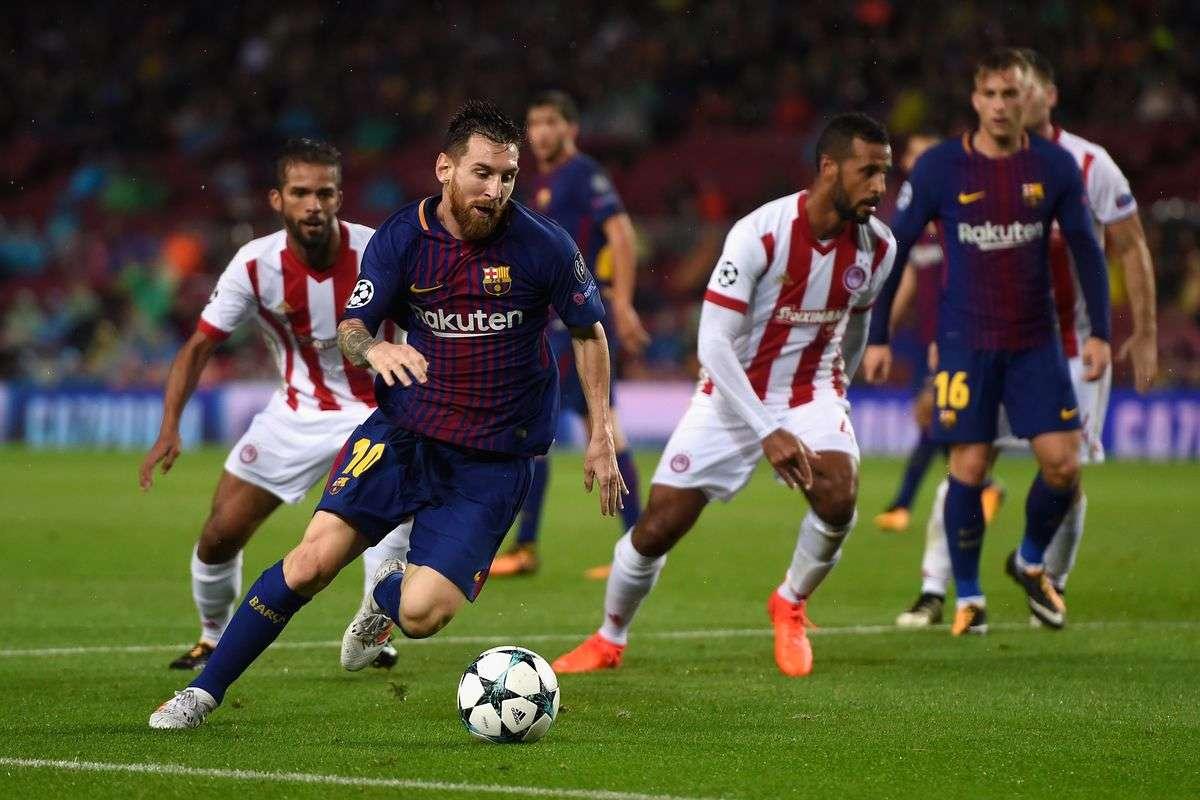 Barcelona đã thắng Olympiakos ở lượt đi