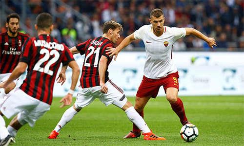 Dzeko mang lại đột biến cần thiết cho Roma sau hơn 70 phút bất lực trước Milan.