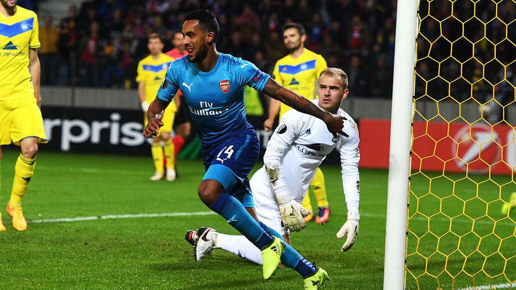 Walcott đã ghi bàn vào lưới BATE Borisov