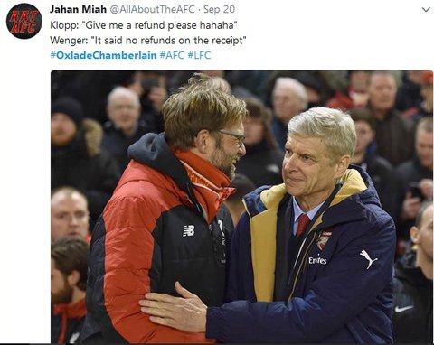 Klopp giờ muốn trả Chamberlain cho Wenger cũng không được
