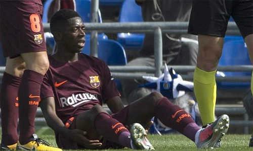 """""""Ousmane Dembele giấu Barca về chấn thương"""""""