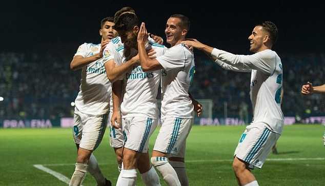 Real nhẹ nhàng vượt qua đội hạng 3 ở Cúp nhà Vua