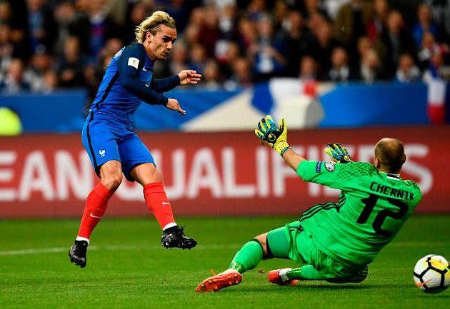 Griezmann mở tỉ số cho tuyển Pháp