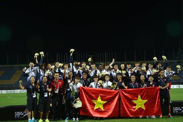 Đội tuyển nữ Việt Nam giành HCV SEA Games 29