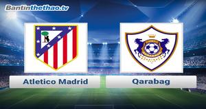 Link xem trực tiếp, link sopcast Atletico Madrid vs Qarabag đêm nay 18/10/2017 Champions League