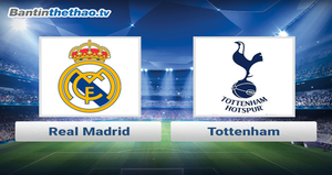 Link xem trực tiếp, link sopcast Real vs Tottenham đêm nay 2/11/2017 Champions League