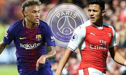 Neymar đặt vấn đề chiêu mộ Alexis Sanchez với PSG