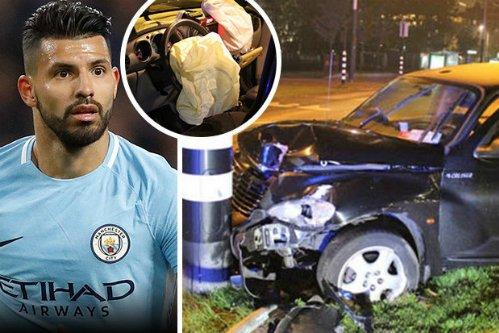 Hiện trường tai nạn của Aguero.