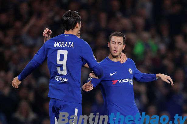 Cặp đôi Hazard và Morata đang chơi rất ăn ý với nhau