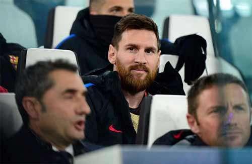 Messi khởi đầu trên băng ghế dự bị trong trận hòa Juventus