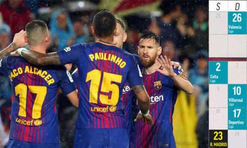 Ba trận 'chung kết' trên con đường vô địch lượt đi La Liga của Barca