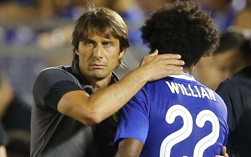 Conte muốn Willian một lòng một dạ với Chelsea, không thì ra đi